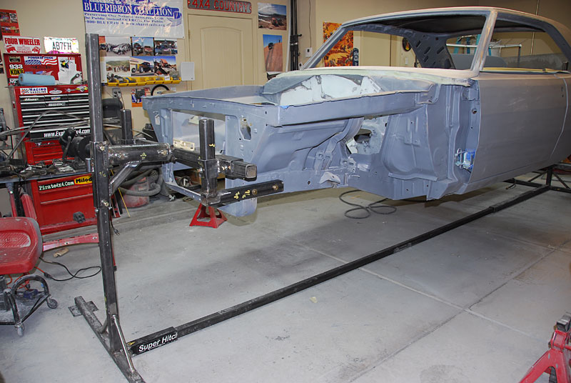 Painting A Car At Home >> Auto Rotisserie for Dodge Dart Restoration